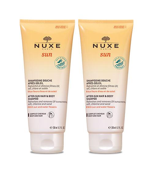 Nuxe Sun Shampoo Gel Duche 2x200ml