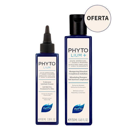 Phyto Phytolium+ Cuidado Antiqueda Homem 100ml + OFERTA Phyto Phytolium+ Shampoo Estimulante Antiqueda 250ml