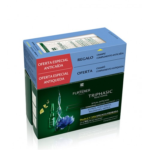 Rene Furterer Triphasic Reacional 12x5ml + OFERTA Shampoo 100ml