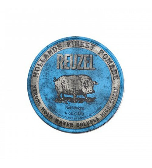 Reuzel Blue Pomade - Strong Hold Water Soluble High Sheen 113g