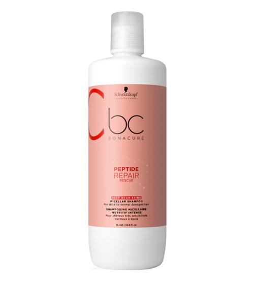 Schwarzkopf BC Peptide Repair Rescue Shampoo Micelar de Nutrição Intensiva 1000ml