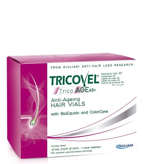 Tricovel TricoAGE 45+ BioEquol Cabelo Ampolas 10x3.5ml