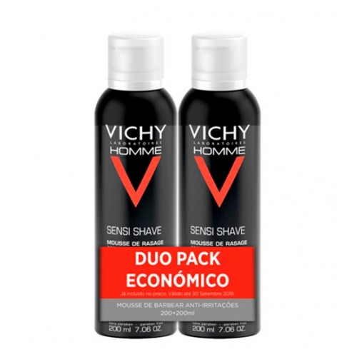 Vichy Homme Mousse de Barbear Anti-irritações 2x200ml